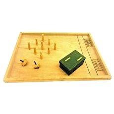 9 Pin Skittles Table Game Toy Vintage German Vauen 1930's