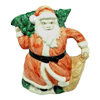 Santa Claus Christmas Pitcher vintage German Alois Dallmayr Coffee Shop