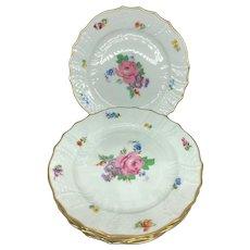 Vintage 5 Cake Plate Hutschenreuther Porcelain Dresden Multicolor Floral