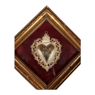Ex Voto Sacred Heart with frame