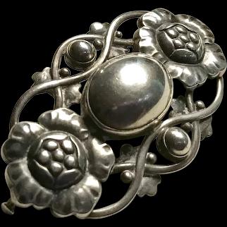 Classic Georg Jensen Sterling Silver Art Nouveau style brooch