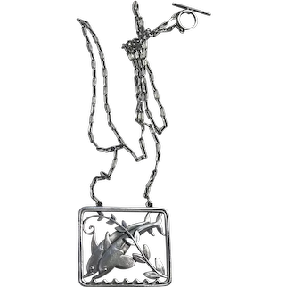 Georg Jensen / Arno Malinowski Sterling Silver Dolphin Necklace # 94