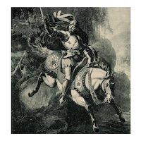 Undivided back, unposted, German postcard of legend of Wolf von Eberstein