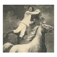 Unposted, undivided back, French postcard of horse and jockey