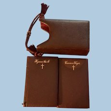 Church of England Prayer Book, and Hymns, Ancient and Modern, 2 Volume, Leather set, Late Victorian