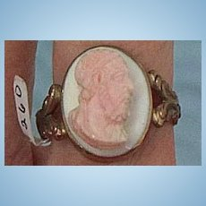 Pink (Angelskin) Coral Cameo Ring