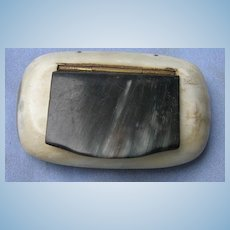 Horn Snuff Box, Early Victorian