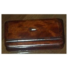 Maghogany Snuff Box/Early Victorian