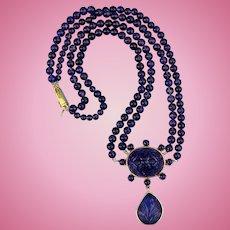 Amethyst Necklace, 15 ct, Edwardian