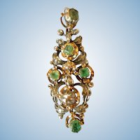 Late 18 Century Spanish Emerald and Diamond Pendant
