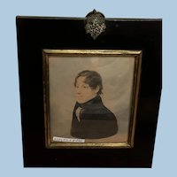 Portrait Miniature Of Young Gentleman, English