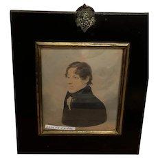 Portrait Miniature Of Young Gentleman, English