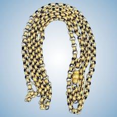 Georgian Longuard Chain, 14 carat, 45 inches long