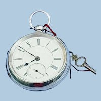 Silver Pocket Watch, Gentlemen's, Victorian