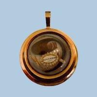 18 carat Souvenir Pendant, Brooch, With Hairwork