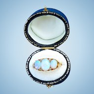 18 ct Opal and Diamond Ring, Edwardian