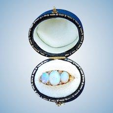 18 ct Opal and Diamond Ring, Edwardian