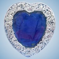 Silver (Sterling) Heart Frame, Edwardian