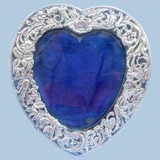 Silver (Sterling) Heart Frame, Edwardian