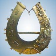 9 Carat Horseshoe Brooch, Victorian