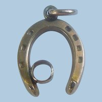 Small 9 ct horseshoe charm