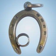 Small 9 ct horseshoe charm