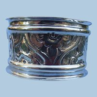 Silver (sterling) napkin ring,Edwardian, No Monogram