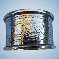 Silver (Sterling) napkin Ring, Edwardian, No Monogram