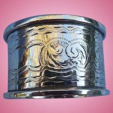 Silver (Sterling) napkin Ring, Edwardian, No Monogram
