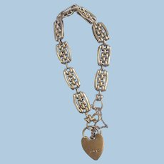 9 ct Curb or Gate Bracelet, Victorian