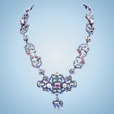 Austro-Hungarian Necklace, Enameled, Victorian