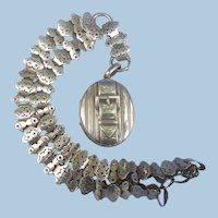 Victorian Locket and Collar, Silver (Sterling)