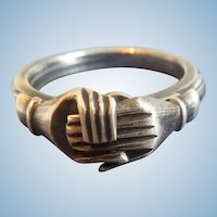 Silver Fede Ring, Victorian