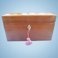 Cedar Box with Three Crystal Perfumes, Victorian