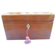 Cedar Box with Three Crystal Perfumes, Victorian