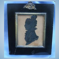Silhouette, Painted, Early Victorian, Lady