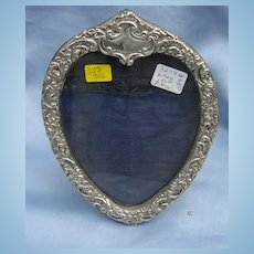Silver Frame, Heart Shaped, Victorian