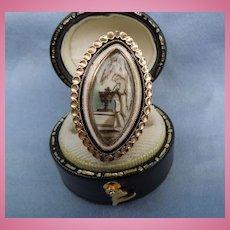 Memorial Jewelry, Mourning Jewelry, Ring, Georgian