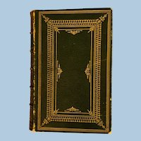 Cowper's Poetical Works, Victorian, Leather Bound Book