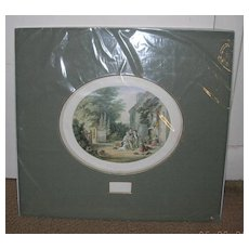 Oil Print, The Burning Glass, Victorian