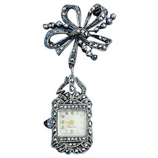 Watch Pendant/Silver/Art Deco