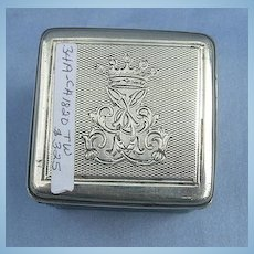 Silver Traveling Inkwell, Georgian