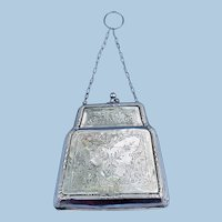 Silver (Hallmarked English) Evening bag, 1917