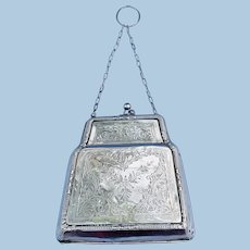 Silver (Hallmarked English) Evening bag, 1917