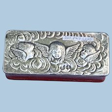 Leather Box, Silver Top, Reynolds' Angels, Edwardian