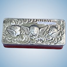 Leather Box, Silver Top, Reynolds' Angels, Edwardian
