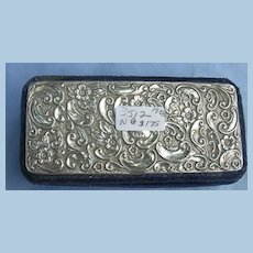 Silver Top, Velvet Trinket, Jewelry Box, Edwardian