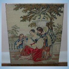 Berlin Wool Work, Victorian, adapted from Firescreen