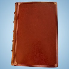 Leather Bound Book, Boswell's London Journal , 1762-1763, Vintage