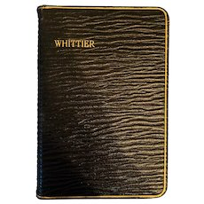 Leather Bound Book,The Poetical Works of John G. Whittier